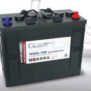 12 GEL-105 Q-Batteries_GEL Technologies battery 12V / C5-105Ah; C20-125Ah (345*170*285) A-Terminal