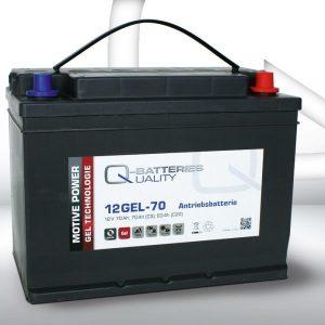 12 GEL-70 Q-Batteries_GEL Technologies battery 12V / C5-70Ah; C20-83Ah (308*175*225) A-Terminal