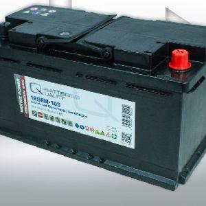 12SEM-105 Q-BATTERIES_Semi-Traction battery 12V C20-105Ah; 600A (EN) L353 W175 H190 A-terminal
