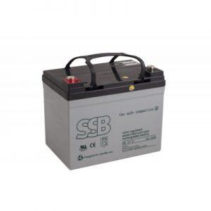 SBL 33-12i_SSB akumulators / AGM / 12V-35Ah/C20 / terminal FO-13 M5 (10-12 g.) L195 W130 h163 H180