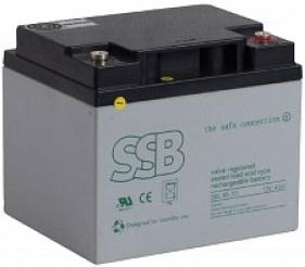 SBL 45-12i_SSB akumulators / AGM / 12V-47.6Ah/C20 / terminal FO-11 M6 (10-12 g.) L197 W165 H170