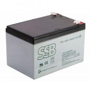 SBL 12-12L_SSB akumulators / AGM / 12V-12Ah/C20 / terminal T2-6.3 mm (10-12 g.) L151 W98 H94