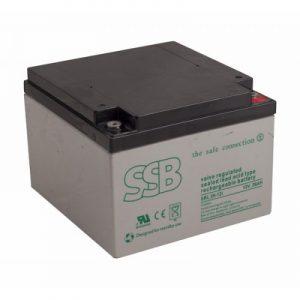 SBL 26-12i_SSB akumulators / AGM / 12Ah-26Ah/C20 / terminal FO-13 M5 (10-12 g.) L175 W166 H125