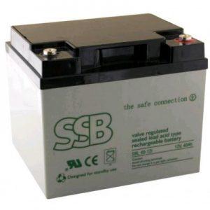 SBL 40-12i_SSB akumulators / AGM / 40Ah-12V / terminal FO-11 M6 (10-12 g.) L197 W165 H169