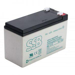 SBL 7.2-12_SSB akumulators / AGM / 12V-7.2Ah/C20 / terminal T1-4.8 mm (10-12 g.) L151 W65 H94
