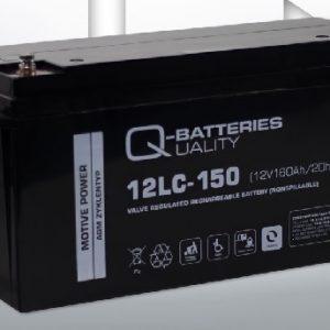 12LC-150 12V 160Ah/C20 (term. F12 (M8) - Q-BATTERIES AGM (VRLA) Deep cycle battery L483 W170 H240