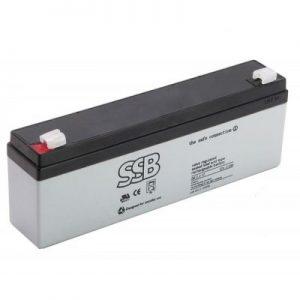 SB 2.3-12_SSB akumulators / AGM / 12V-2.3Ah/C20 / terminal T1-4.8 mm (6-9 g.) L178 W34 H60