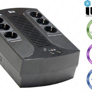 UPS-IPS 600VA/360W/230V 1ph/1ph, internal 1x12v7Ah AGM, 3x UPS socket + 3 sockets non-UPS
