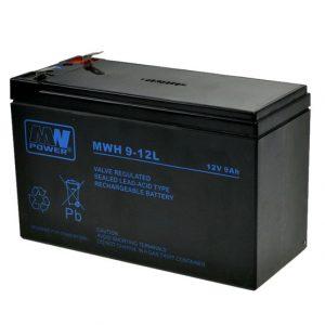 MWH 9-12L MWPower battery / AGM / 12V-9Ah 290W / terminal T2-6.3 mm / L151 W65 H95 mm