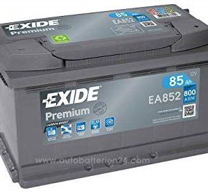 EXIDE PREMIUM-EA852 12V-85Ah / EN 800A / L315 / W175 / H175 Akumulators (-/+)