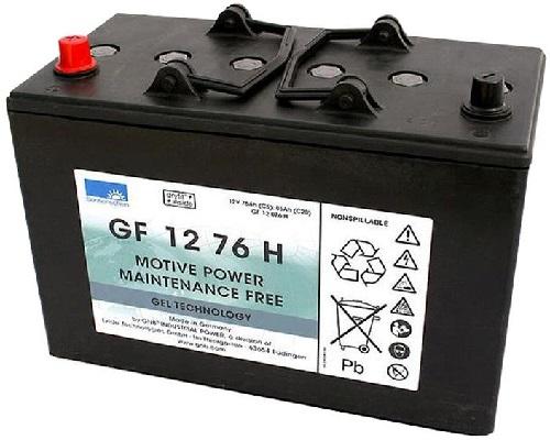 GF 12 076 H Sonnenschein M_GEL battery 12V / C5-76Ah; C20-86Ah (330*171*236) A-Terminal 1000 cycles