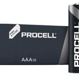DURACELL PROCELL LR03 PROFESSIONAL Alkaline AAA Micro battery PR2400 1,5V / box 10 gab