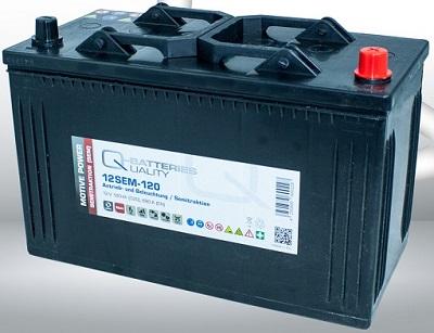 12SEM-120 Q-BATTERIES_Semi-Traction battery 12V C20-120Ah; 680A (EN) L347 W175 H234 A-terminal
