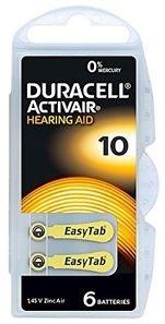 Duracell DA10N6 Zinc Air batteries 1,4V BP-6 (6 gab. box)