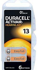 Duracell DA13N6 Zinc Air batteries 1,4V BP-6 (6 gab. box)
