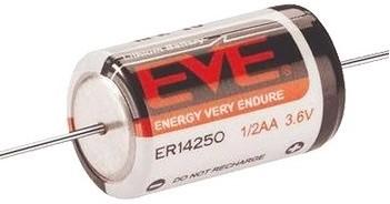 EVE ER14250CNA battery Lithium-teonyl Chloride (Li-SOCI2)  3,6V 1,2Ah (1/2AA)