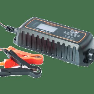 MW Power MW-SC4F universal charger 6V-0.8A / 12V-3.8A LCD display (IP65) lādēšanas ierīce