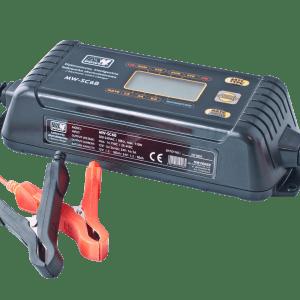 MW Power MW-SC6B universal charger 12V-6A / 24V-3A LCD display (IP65) lādēšanas ierīce