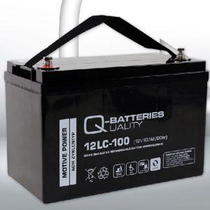 12LC-100 12V 107Ah/C20 (term. F12 M8) — Q-BATTERIES AGM (VRLA) Deep cycle battery L328 W172 H222