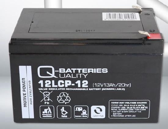 12LCP-12 12V 13Ah/C20 (term. F2) — Q-BATTERIES AGM (VRLA) Deep cycle battery L151 W98 H101