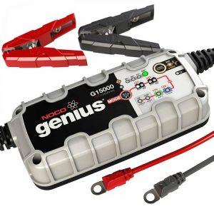 NOCO Genius G15000 EU charger lead acid & lithium batteries 12V/24V 15A (lādēšanas ierīce)