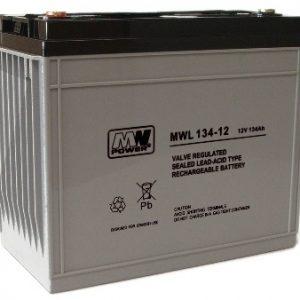 MWL134-12 MWPower battery / AGM / 12V-134Ah / terminal M8 / L342 W173 H285 mm