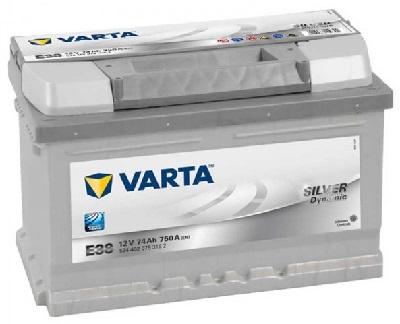 VARTA E38 SILVER DYNAMIC 12V-74Ah / EN 750A / L278 / W175 / H175 Akumulators (+/-)