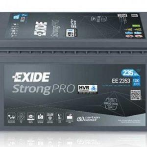 EXIDE-EE2353 StrongPRO VHR NEW! 12V-235Ah / EN 1200A / L518 / W276 / H242 Akumulators