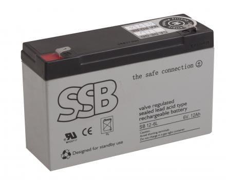 SB 12-6_SSB akumulators / AGM / 12Ah-6V / terminal T1-4.8 mm / L151 W50 H100