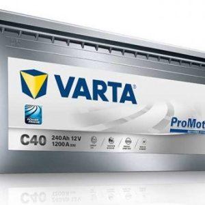 VARTA C40 PROMOTIVE  EFB technology 12V-240Ah / EN 1200A / L518 / W276 / H242 Akumulators