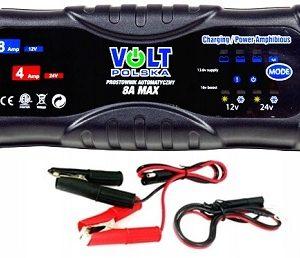 8A MAX universal charger 12V-8A/24V-4A BOOST režīms (IP65) lādēšanas ierīce