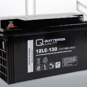 12LC-130 12V 128Ah/C20 (term. F12 M8) — Q-BATTERIES AGM (VRLA) Deep cycle battery L407 W177 H225