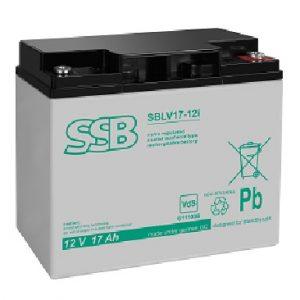 SBLV 17-12i (VdS)_SSB akumulators / AGM / 17Ah-12V / terminal M5 (10-12 g.) L181 W77 H167