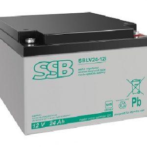 SBLV 24-12i (VdS)_SSB akumulators / AGM / 24Ah-12V / terminal M5 (10-12 g.) L165 W175 H127