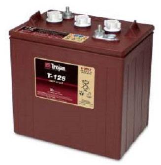 Akumulator Trojan T125 Deep cycle Flooded/Wet Lead-Acid battery 6V C5-195Ah; C20-240Ah (L262 W181 H283)