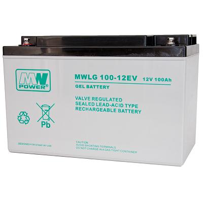 MWLG 100-12EV MWPower battery / GEL / 12V-100Ah / terminal M8 / L330 W173 H220 mm