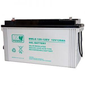 MWLG 120-12EV MWPower battery / GEL / 12V-120Ah / terminal M8 / L409 W176 H225 mm