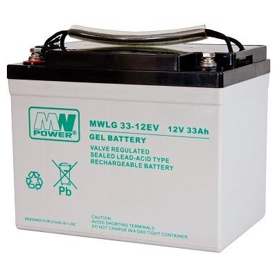 MWLG 33-12EV MWPower battery / GEL / 12V-33Ah / terminal M6 / L196 W131 H166 mm