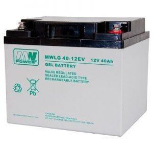 MWLG 40-12EV MWPower battery / GEL / 12V-40Ah / terminal M6 / L196 W165 H170 mm