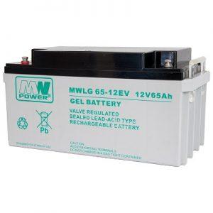 MWLG 65-12EV MWPower battery / GEL / 12V-65Ah / terminal M6 / L350 W167 H179 mm