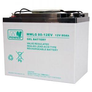 MWLG 80-12EV MWPower battery / GEL / 12V-80Ah / terminal M6 / L260 W168 H215 mm
