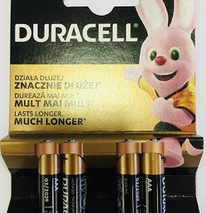 DURACELL LR03-BP4 AAA 1,5V ALKALINE (4gab. Blister)
