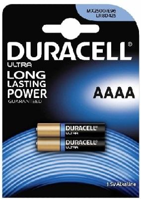 Duracell MX2500 ULTRA Alkaline AAAA battery 1,5V (2pcs. blister)