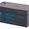 MW 3.4-12 MWPower / AGM / 12V-3.4Ah / T1-4.8 mm / L134 W67 H66 mm
