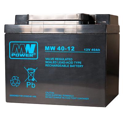 MW40-12 MWPower battery / AGM / 12V-40Ah / terminal M6 / L197 W165 H170 mm