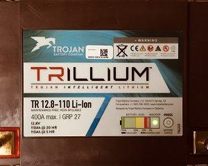 AKUMULATOR TROJAN TRILLIUM LITHIUM 12.8V-110Ah (1400Wh) Model-TR 12.8-110 Li-ion