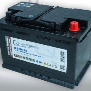 12SEM-80 Q-BATTERIES_Semi-Traction battery 12V C20-80Ah; L278 W175 H190 A-terminal