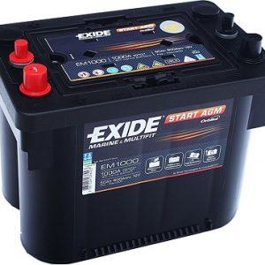 EXIDE EM1000 AGM Orbital 12V-50Ah CCA(EN) 800A L260 W173 H206