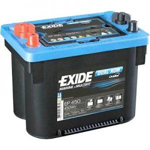 EXIDE EP450 DUAL AGM Orbital 12V-50Ah CCA(EN) 750A L260 W173 H206