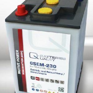 6SEM-230 Q-BATTERIES_Semi-Traction battery 6V C20-230Ah; L242 W190 H274 A-terminal